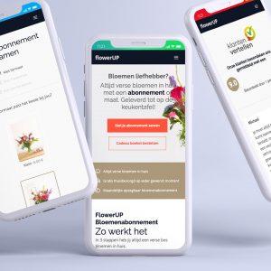Nieuwe website en identiteit voor flowerUP
