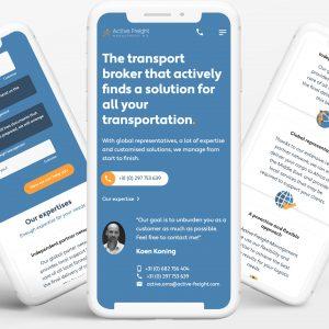 Meertalige website met kennisbank voor Active Freight